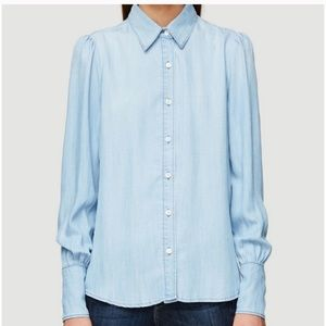 Anthropologie Frame Denim Chambray Top